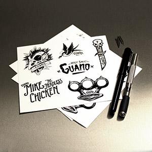 Stickers Vinyle Blanc Brillant en placnhettes ( amalgamme de plusieurs visuels )