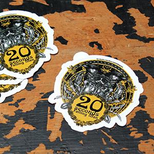 Stickers Vinyle Blanc Brillant découpe à la forme personnalisée