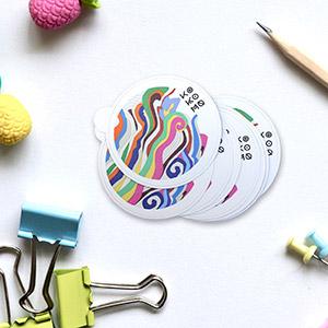 Stickers Vinyle Blanc Mat ronds à l'unité