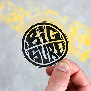 Stickers Vinyle Transparent rond